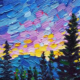 Dawn behind the Mountains by Jessica T Hamilton