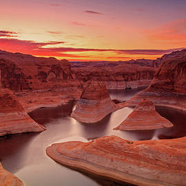 Johnny Adolphson - Dawn sky above Reflection Canyon.