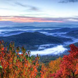 Dawns Early Light Looking Glass Rock Great Smokey Mountain Art by Reid Callaway