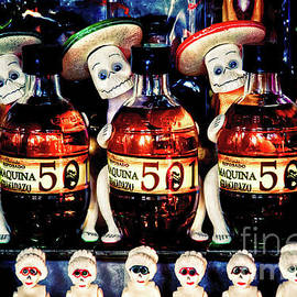 Day of the Dead candy and tequila display by Tatiana Travelways
