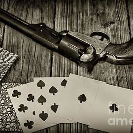 Paul Ward - Dead Mans Hand black and white