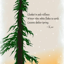December Haiku with drawing by Kae Cheatham