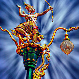 Ian Gledhill - Decorative City Lamp Post Khon Kaen-Thailand
