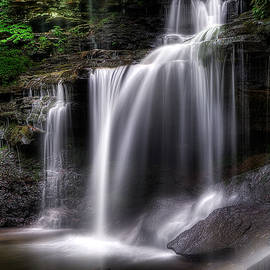 Deep Forest Falls by John Maslowski