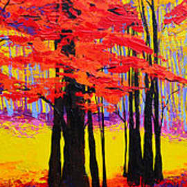 Patricia Awapara - Deep Within - Enchanted Forest Collection - Modern Impressionist Landscape Art - Palette knife