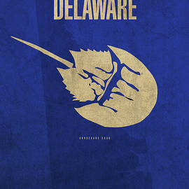 Design Turnpike - Delaware State Facts Minimalist Movie Poster Art
