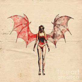 Demon Girl Pop Art by Mary Bassett - Mary Bassett