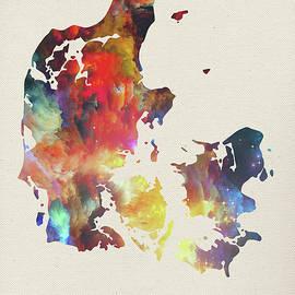 Design Turnpike - Denmark Watercolor Map