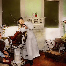 Dentist - Treating Them Like Children 1922 by Mike Savad