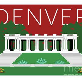 Denver Cheesman Park/maroon by Sam Brennan