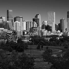 Denver CO Skyline B W - Steve Gadomski