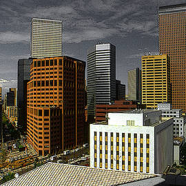 Denver Colorado Downtown Skyline by Peter Potter