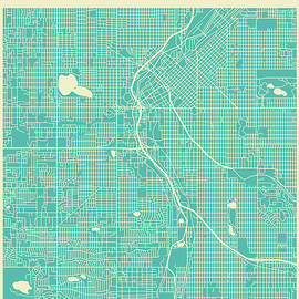DENVER STREET MAP 2 - Jazzberry Blue