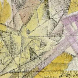 Der Tod eines Menschen, gleichzeitig im Flugzeug und der Eisenbahn - Kazimir Malevich