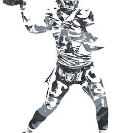 DEREK CARR OAKLAND RAIDERS PIXEL ART 11 - Joe Hamilton