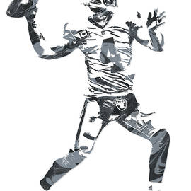 DEREK CARR OAKLAND RAIDERS PIXEL ART 12 - Joe Hamilton