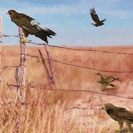 Ericamaxine Price - Desert Eagles - Painting