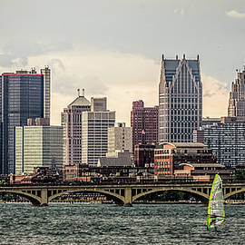 Wes Iversen - Detroit From Belle Isle