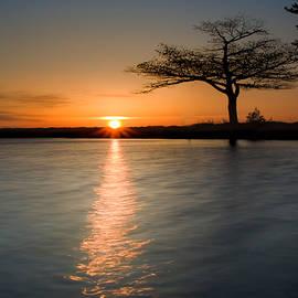 Detroit Point April sunrise by Ron Wiltse