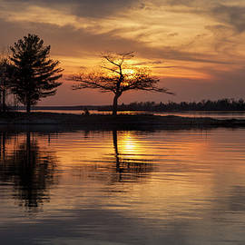 Detroit Point Calm May Sunset by Ron Wiltse