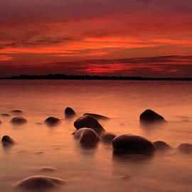 Detroit Point Rocks by Ron Wiltse