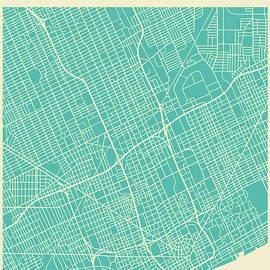 DETROIT STREET MAP - Jazzberry Blue
