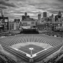 Detroit Tigers Comerica Park Bw 4837 by David Haskett II