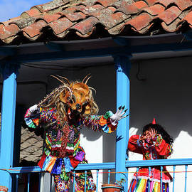 Devils At Play Paucartambo Peru by James Brunker