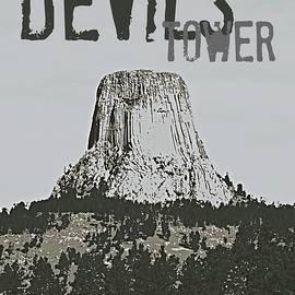 Devils Tower Stamp by Troy Stapek
