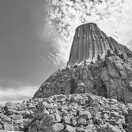 Devil's Tower, Wyoming, Black And White by Jim Hughes