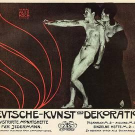 Devtsche-Kvnst und Dekoration - German Art - Retro travel Poster - Vintage Poster - Studio Grafiikka