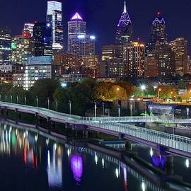 Philly Lights Reflect Nicely by Frozen in Time Fine Art Photography