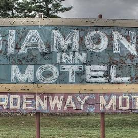 Jane Linders - Diamond Inn Motel Gardenway motel sign