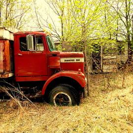 Diamond Reo on the Farm by Curtis Tilleraas