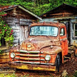 Diamond T Vintage Truck by Debra and Dave Vanderlaan
