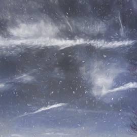 Debra Lynch - Digital Painted Wintry Sky With Tree