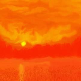 Debra Lynch - Digital Painting Of Sunset