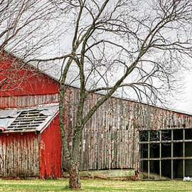 William Sturgell - Dilapidated Barn and a New Corncrib