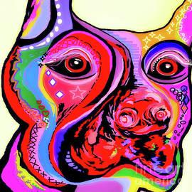 Eloise Schneider - Doberman Pinscher Close Up Bright Colors