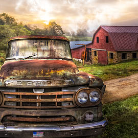 Dodge at the Farm by Debra and Dave Vanderlaan