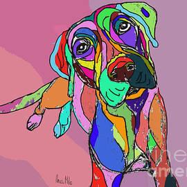 Ania Milo - Dog Sketch Psychedelic  01
