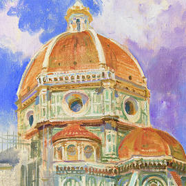 Dome of the Duomo. Leaving into the clouds - Victoria Kharchenko