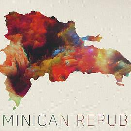 Design Turnpike - Dominican Republic Watercolor Map