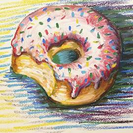 Melissa Brazeau - Donut with strawberry frosting and sprinkles