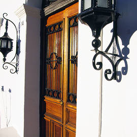 Door And Lamps by Thomas R Fletcher