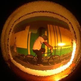 Don Columbus - Door Knob Reflection Man on Bike