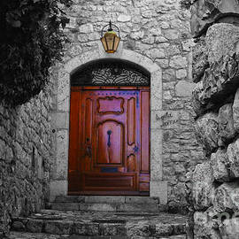 Doorway In Eze France by Bob Christopher