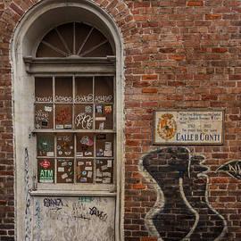 Doorway - Stickers, Graffiti and Brick