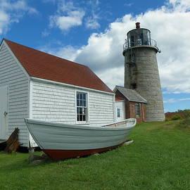 Joseph Rennie - Dory and Lighthouse Monhegan Island Maine
