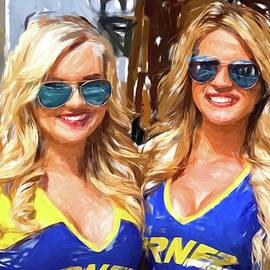 Double Blondes At The Track by Alice Gipson